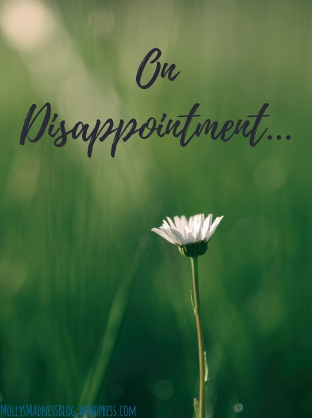 on disappointment